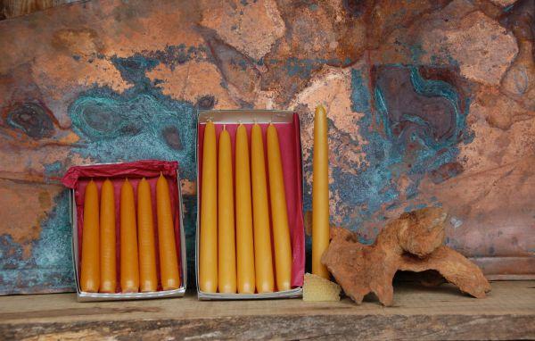 Leuchterkerzen Ø 24 mm - natur