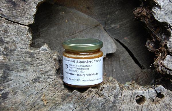 Honig mit Bienenbrot-Perga 250 gr