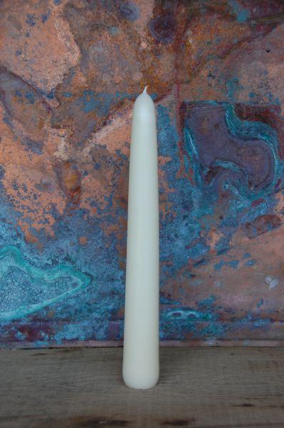 Dicke Leuchterkerzen cremeweiß (40 x 300 mm)