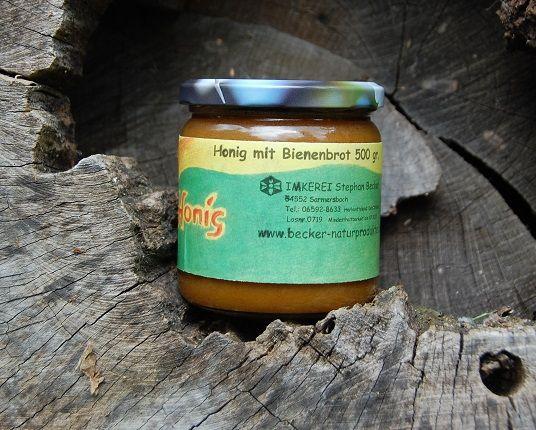 Honig mit Bienenbrot-Perga 500 gr.