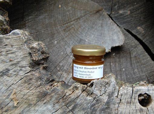 Honig mit Bienenbrot-Perga 40 gr. BIO